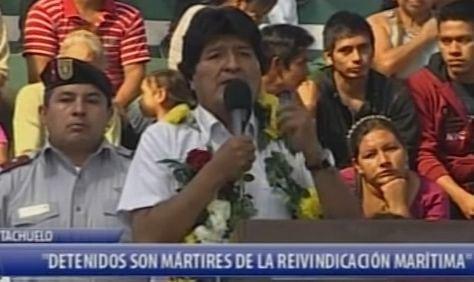 MORALES DECLARA MÁRTIRES A LOS BOLIVIANOS CONDENADOS POR ROBO EN CHILE