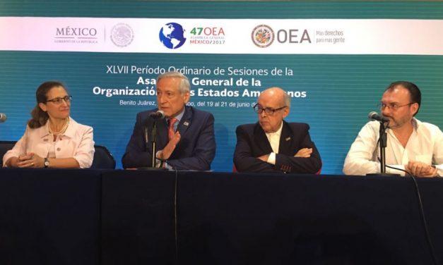 OEA: FRENTE A VENEZUELA LOS DELEGADOS AMERICANOS SE FUERON CON LAS MANOS VACÍAS