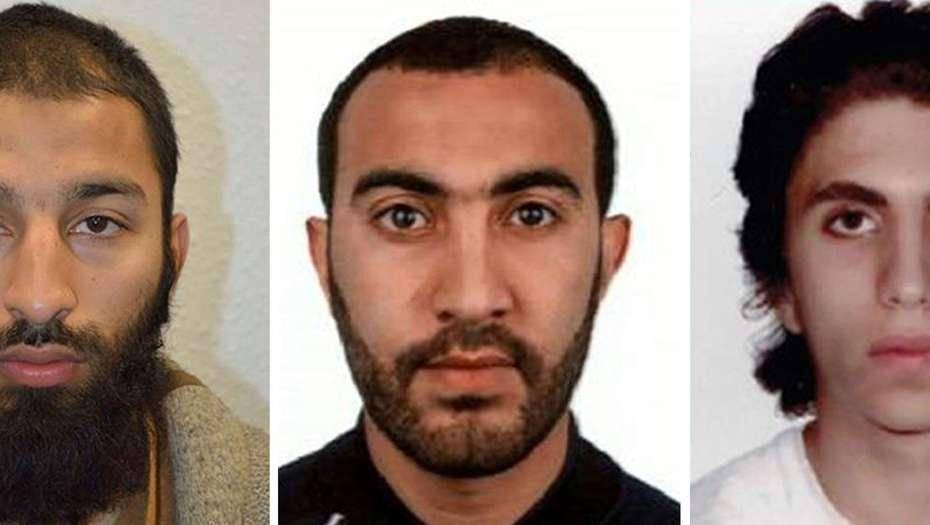 LOS TRES TERRORISTAS IDENTIFICADOS EN LONDRES