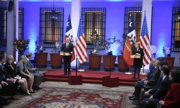 CON DOS NEGATIVAS DE CHILE A EE UU TERMINARON CONVERSACIONES ENTRE BACHELET Y PENCE