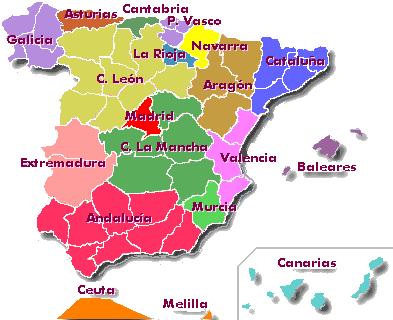 Compleja organización territorial española