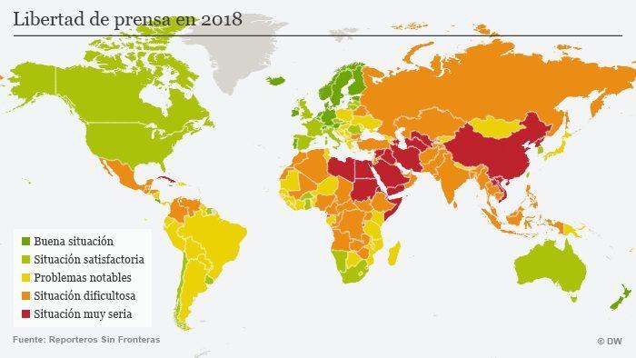 LIBERTADES DE PRENSA Y EXPRESIÓN: SON SEVERAMENTE CRÍTICAS EN Cuba, México  y Venezuela