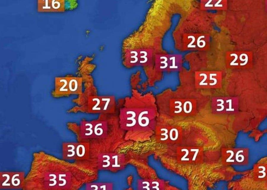 Un viaje a Europa no andaría mal para evitar el frío chileno o argentino – Ola de calor en el viejo mundo