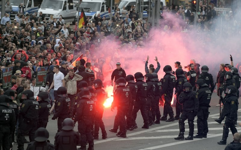 Persecución neonazi en Alemania tras graves incidentes en Chemnitz con un muerto y varios heridos