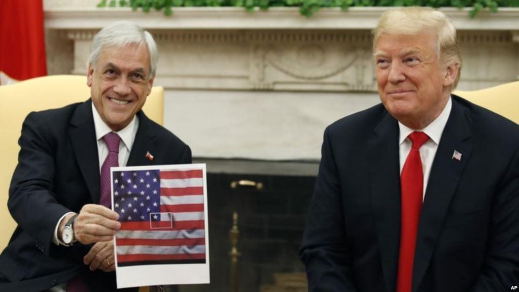 ¿Error o nuevo «despiste» de Sebastián Piñera? – Similar a la visita que le hizo a Obama en 2013