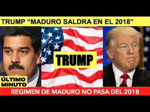 """Confirmado: Trump involucrado en conversaciones secretas para derrocar a Maduro – Almagro de la OEA agregó: """"Hay que tirar esta dictadura"""""""