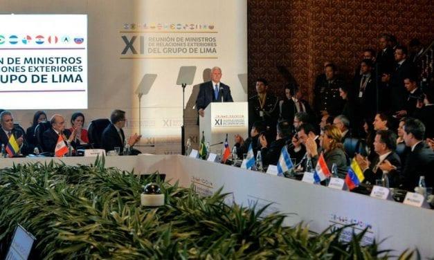Costa Rica no firmó la Declaración de este lunes del Grupo de Lima sobre Venezuela