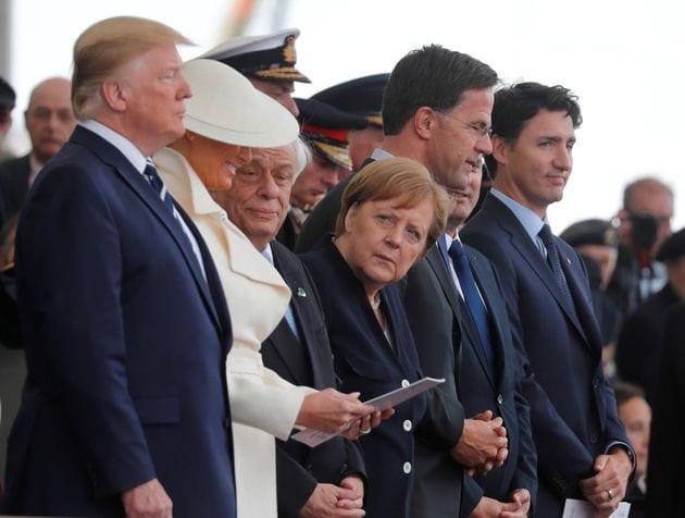EL HUFFPOST: Frente a Trump Todos somos Merkel – Su mirada lo dice todo…Si, sí. Tal cual….