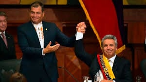 Correa y Moreno el día del triunfo de este último, cuando ambos aún se entendían.em