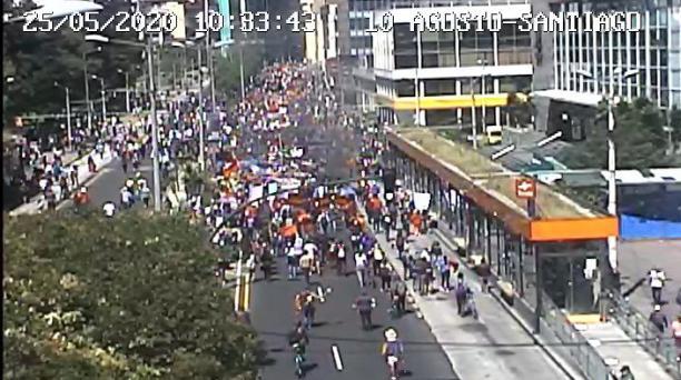 Protestas sociales y estudiantiles en Quito