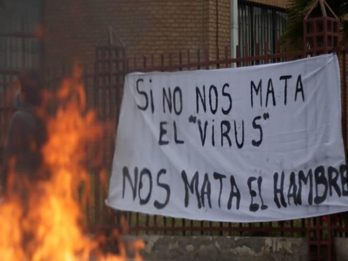 «Tenemos hambre» vociferan pobladores pobres y desempleados en comunas de Santiago