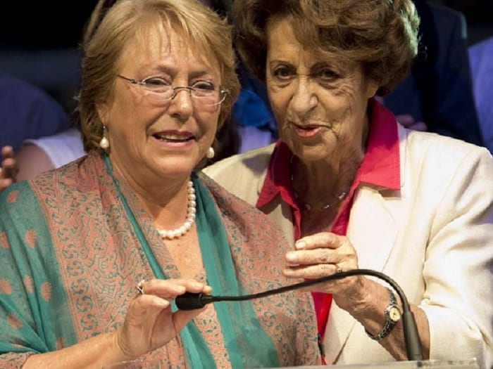 Murió la madre de Michelle Bachelet Angela Jeria