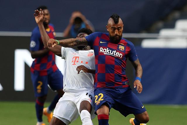 Kradiario-Deportes: Un Bayern letal humilla a un Barcelona indigno con jugadores viejos, cojos y brutos como Vidal y Mezzi