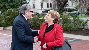Bachelet y Almagro están en enfrentamiento directo en torno a la Comisión Interamericana de DD HH