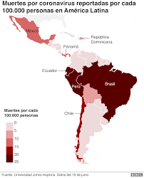 America Latina y el coronavirus: 285.286 muertos