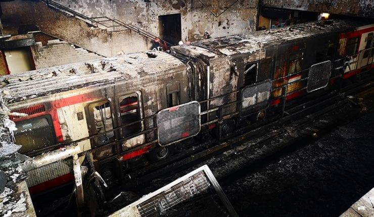 Flor de Justicia: Libre de polvo y paja acusados del incendio en la estación Pedrero del metro a pesar de las pruebas