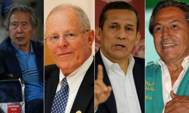 Uno a uno han ido cayendo los ex presidentes peruanos implicados en millonarios delitos de corrupción