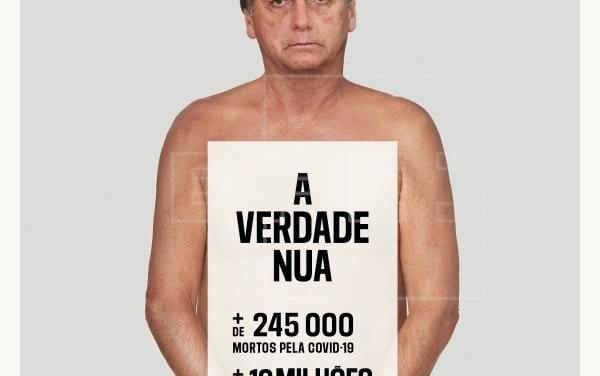 Reporteros Sin Fronteras denuncian manipulación de la pandemia con un Bolsonaro al desnudo