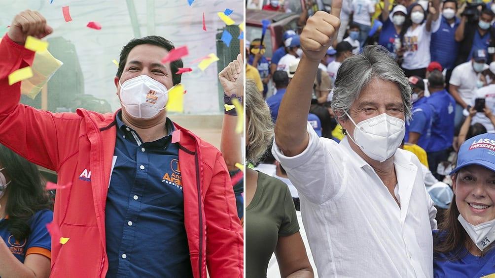 Un economista de izquierda y un exbanquero disputarán la Presidencia de Ecuador en abril