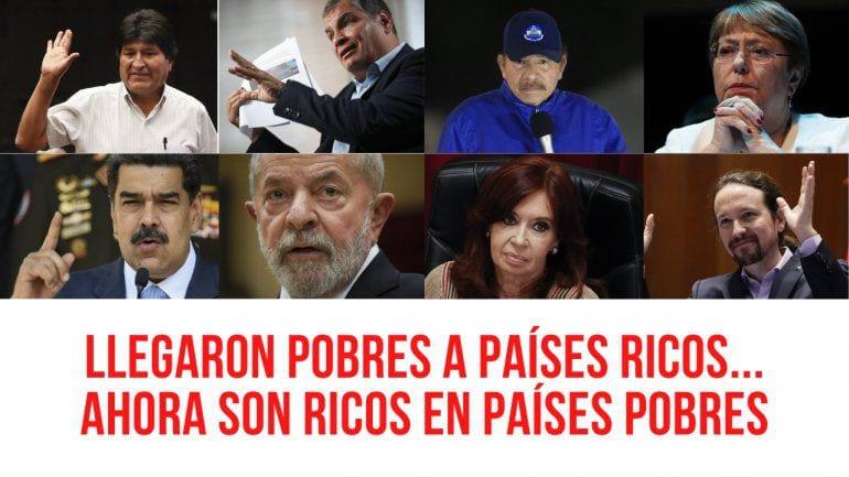 De pobres a ricos: Un denominador común de la izquierda y ayuda memoria para Chile y Perú