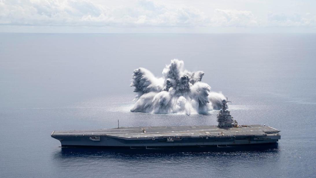 El portaviones más nuevo y avanzado de EE UU fue sometido a duras pruebas de resistencia en el Océano Atlántico