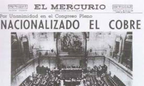 Chile: Hace cincuenta años nacionalizó el cobre